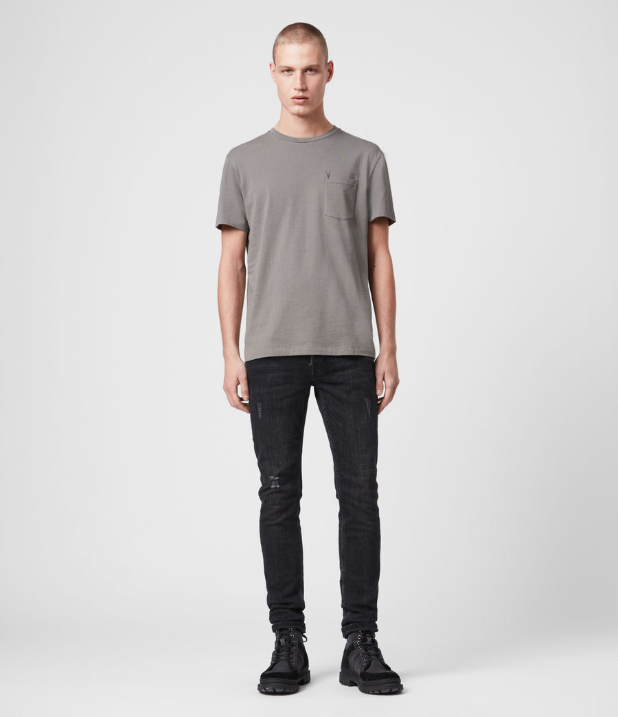 Men's Arch Crew T-Shirt (grey_marl) - Image 3