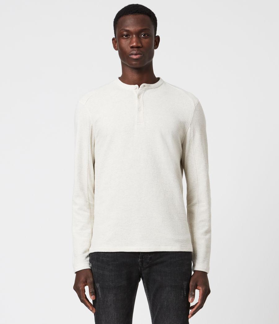 Herren Bjorn Henley Langarmshirt (ecru_white) - Image 1