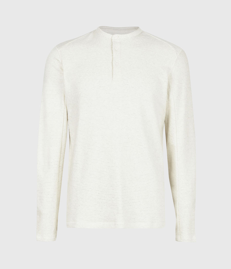 Herren Bjorn Henley Langarmshirt (ecru_white) - Image 2
