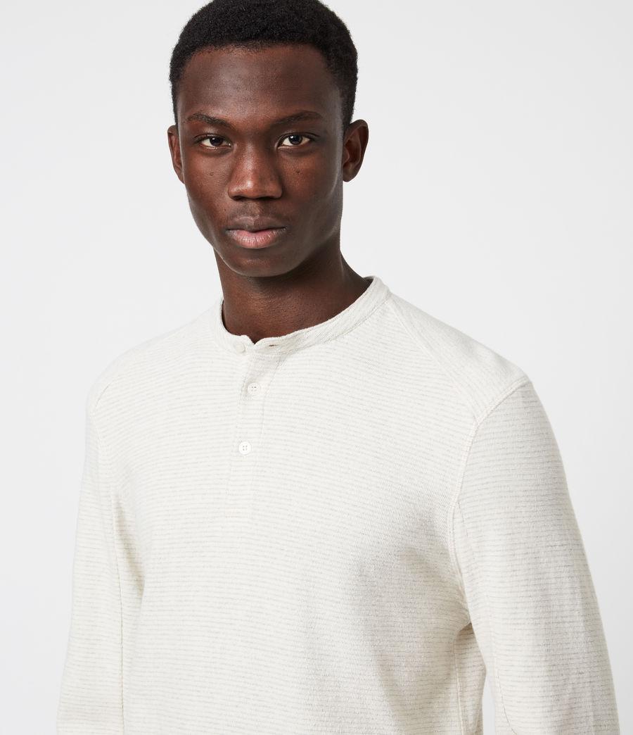 Herren Bjorn Henley Langarmshirt (ecru_white) - Image 4