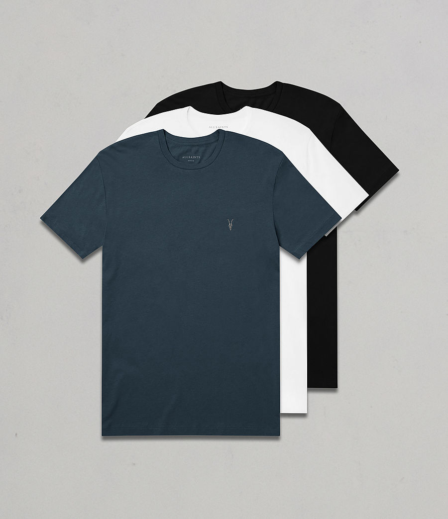 Hombres Pack de 3 camisetas Tonic (white_black_blue) - Image 1