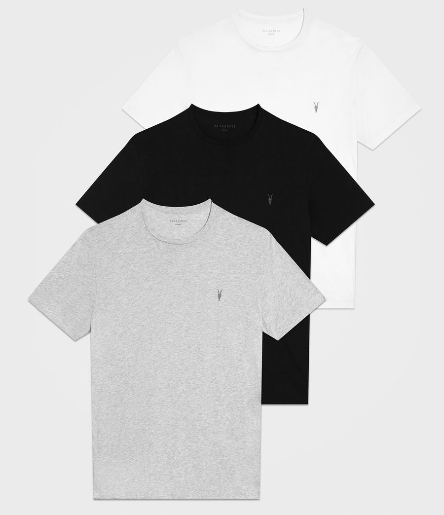 Mens Tonic Crew T-Shirt 3 Pack (optic_black_grey) - Image 1