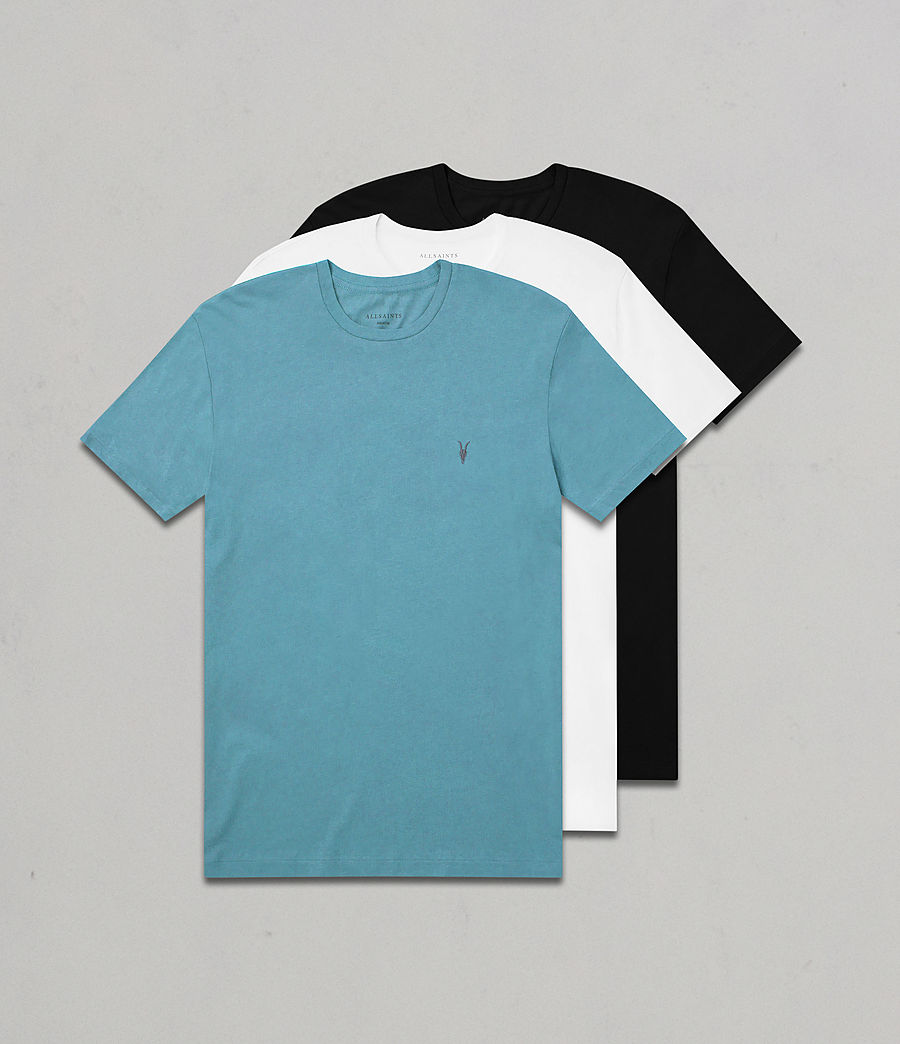 Hommes Pack de 3 T-Shirts Tonic (teal_white_black) - Image 1