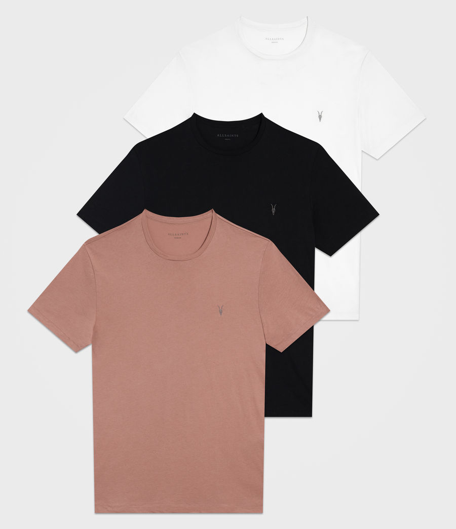 Mens Tonic Crew T-Shirt 3 Pack (clay_blk_white) - Image 1