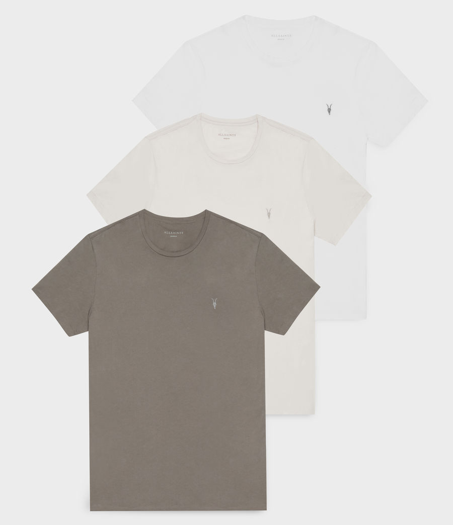 Uomo Tonic Crew T-Shirt 3 Pack (lunar_g_grey_white) - Image 1
