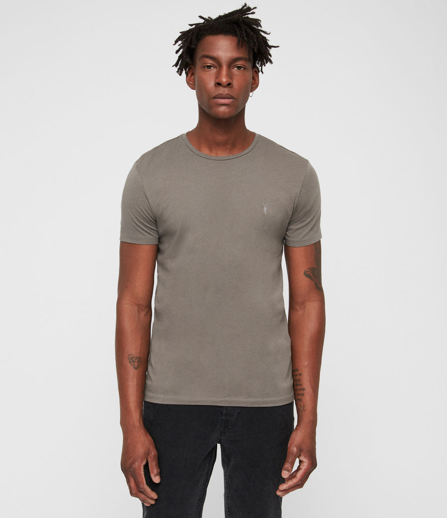 Uomo Tonic Crew T-Shirt 3 Pack (lunar_g_grey_white) - Image 4