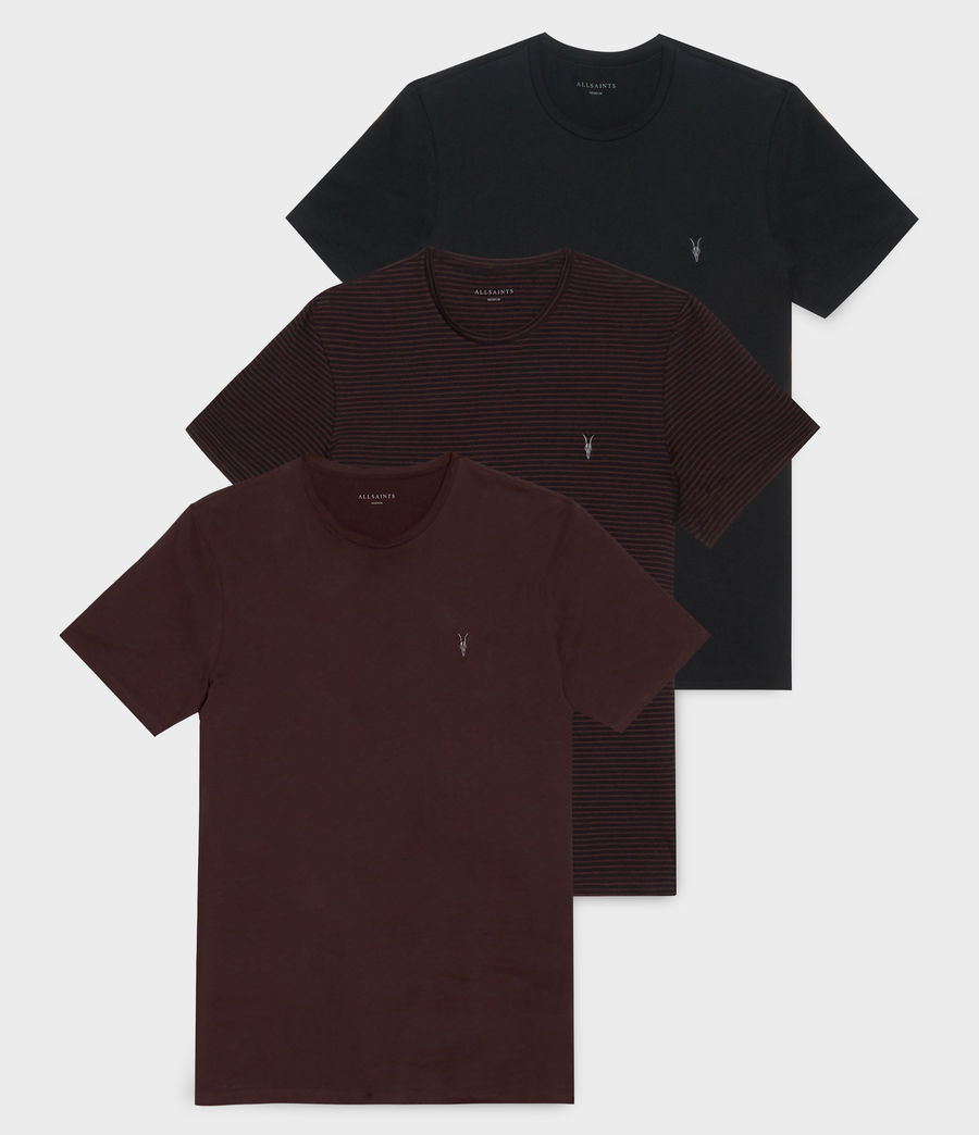 Mens Tonic T-Shirt 3-Pack (red_red_blk_black) - Image 1
