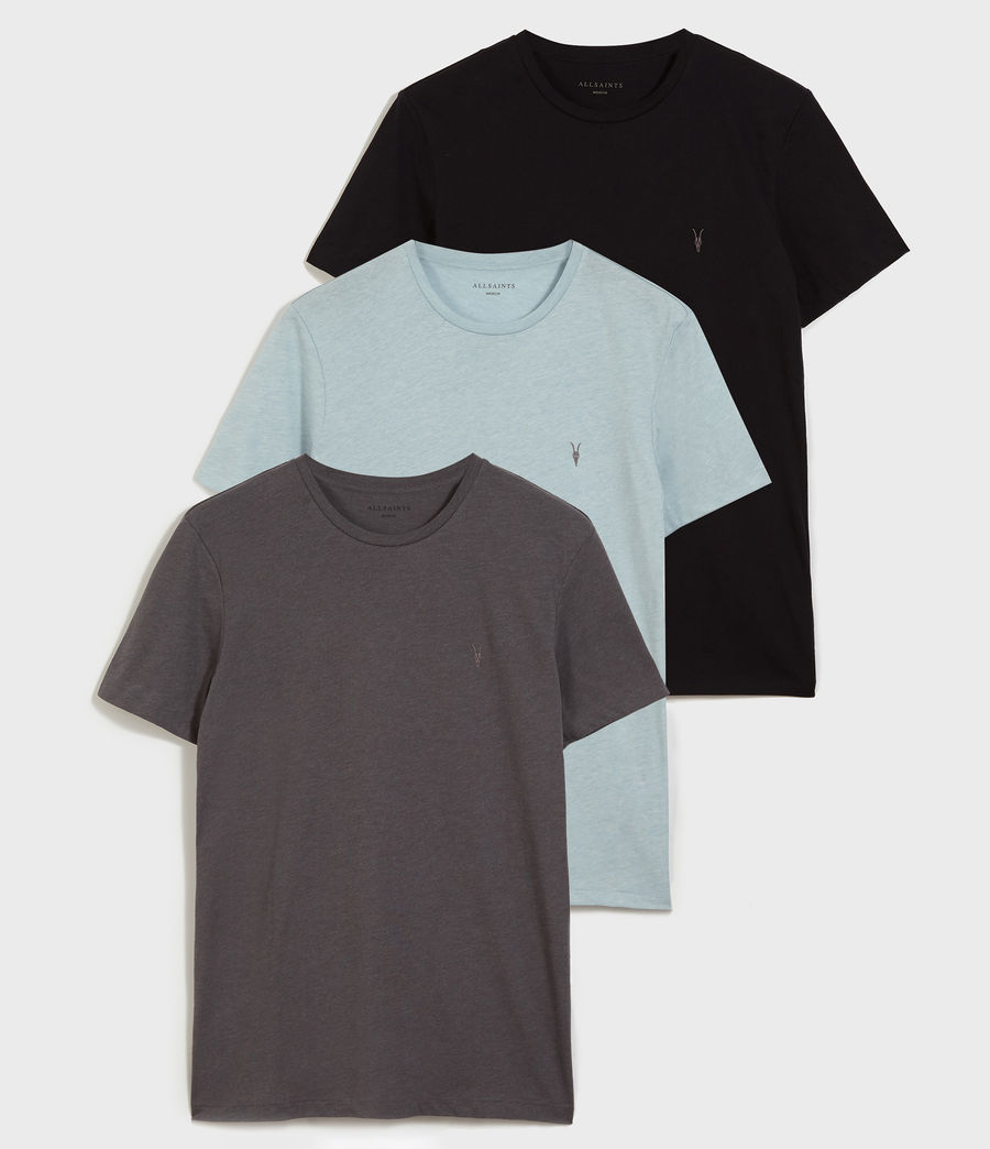 Hombres Pack de 3 Camisetas Tonic (optic_black_grey) - Image 1
