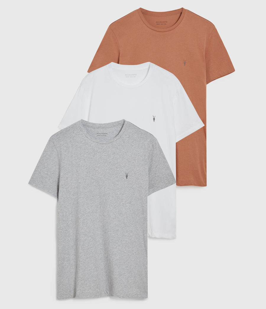 Hommes Pack de 3 T-Shirts Tonic (pink_grey_white) - Image 1