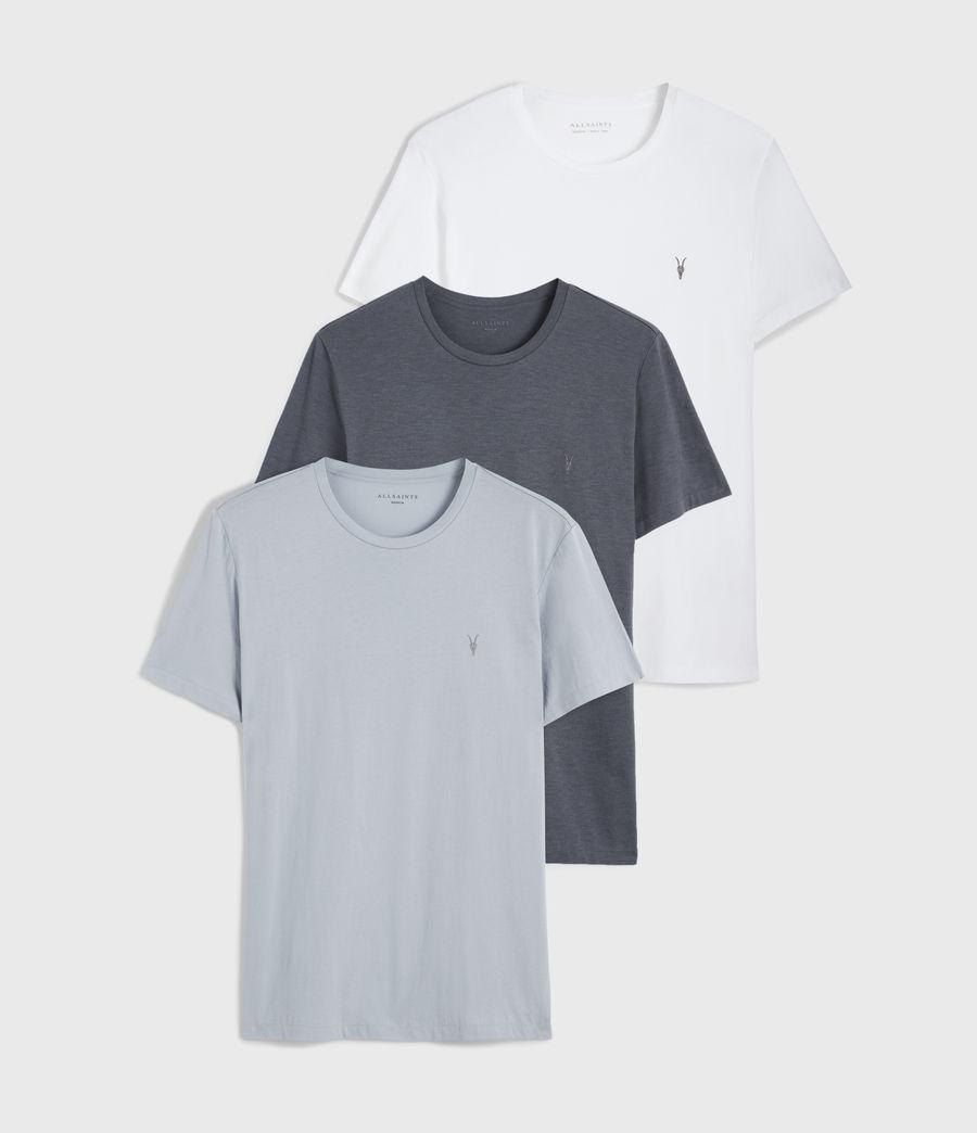Men's Tonic Crew 3 Pack T-Shirts (white_vista_blue) - Image 1