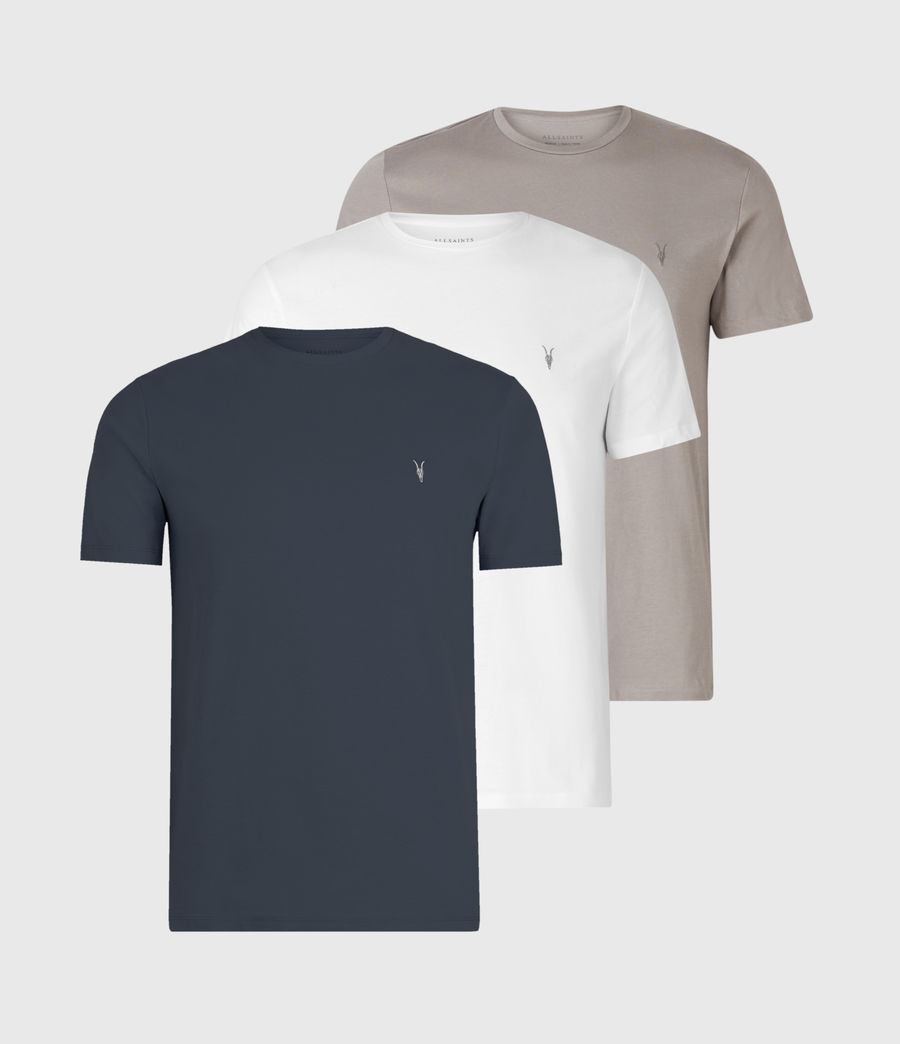Mens Tonic Crew 3 Pack T-Shirts (blue_taupe_white) - Image 1
