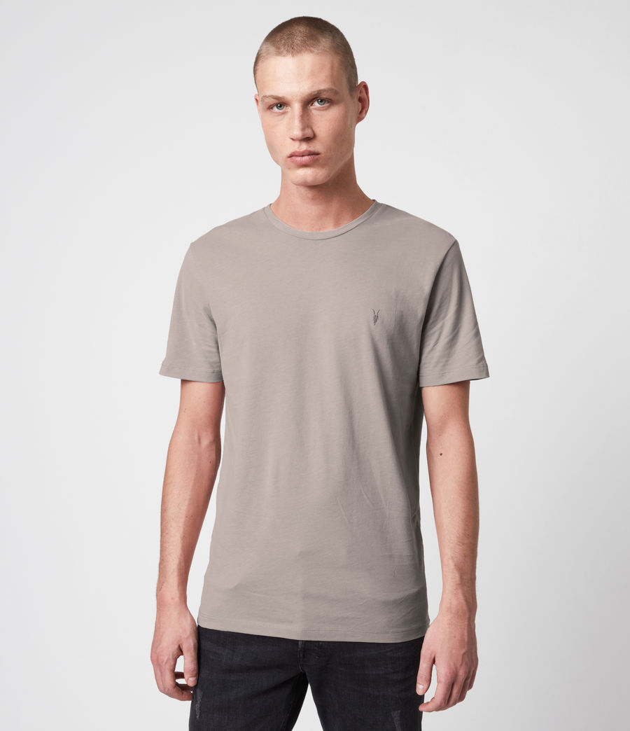 Mens Tonic Crew 3 Pack T-Shirts (blue_taupe_white) - Image 3