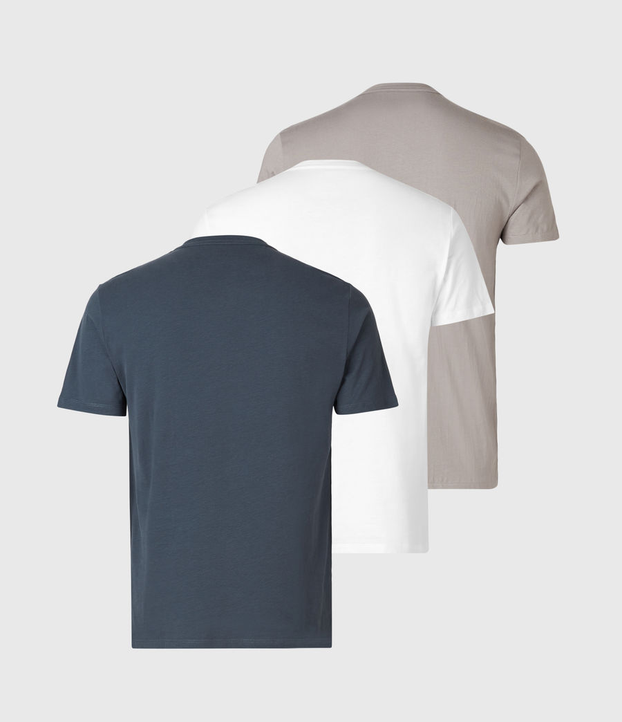 Mens Tonic Crew 3 Pack T-Shirts (blue_taupe_white) - Image 8