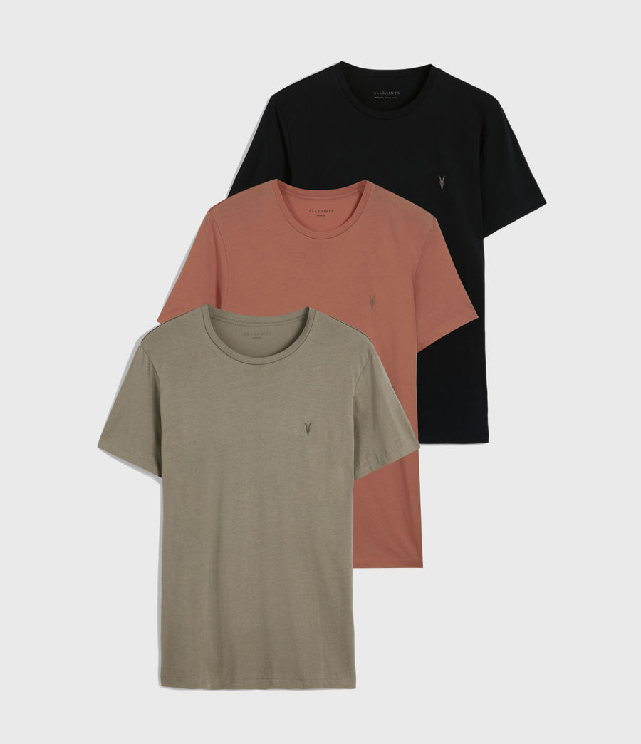 Men's Tonic Crew 3 Pack T-Shirts (blk_flint_grnt_red) - Image 1