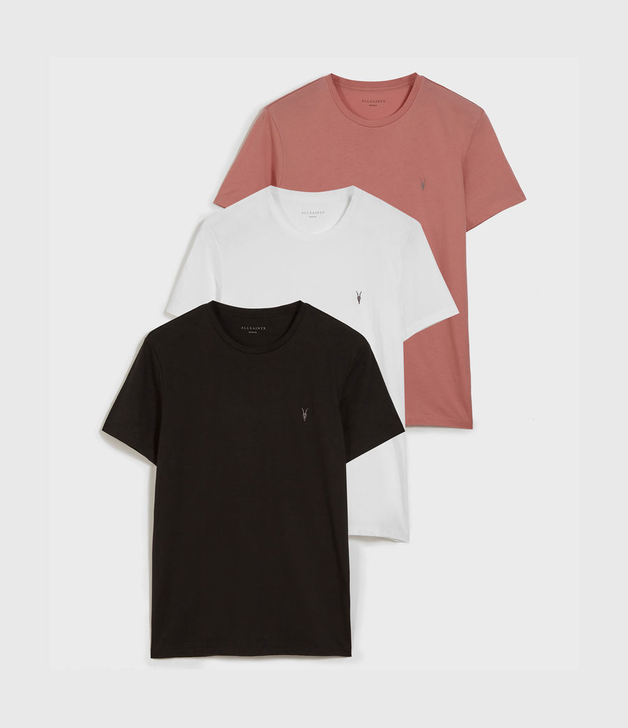 Men's Tonic Crew 3 Pack T-Shirts (optic_blk_bkd_pink) - Image 1