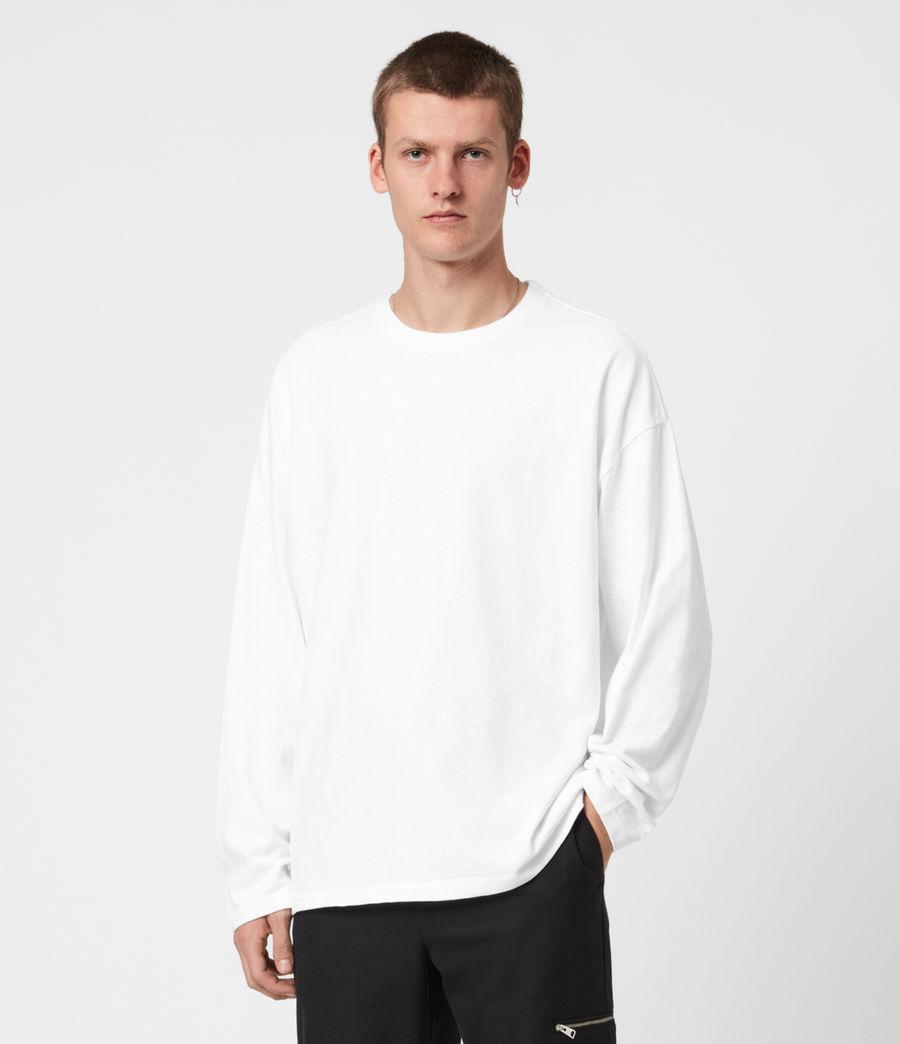 Herren Riki Crew T-Shirt (optic_white) - Image 1