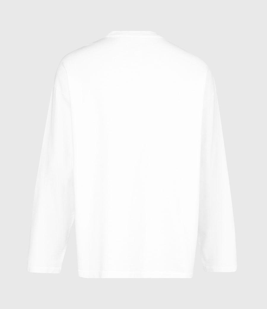 Herren Riki Crew T-Shirt (optic_white) - Image 3