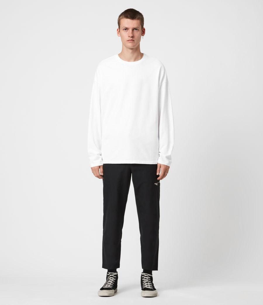 Herren Riki Crew T-Shirt (optic_white) - Image 4