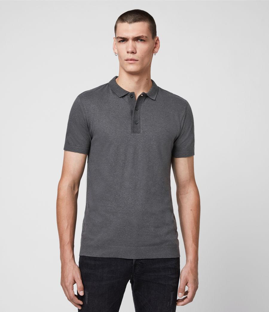 Uomo Polo Tyra - Slim in misto cotone e lino (putty_grey) - Image 1