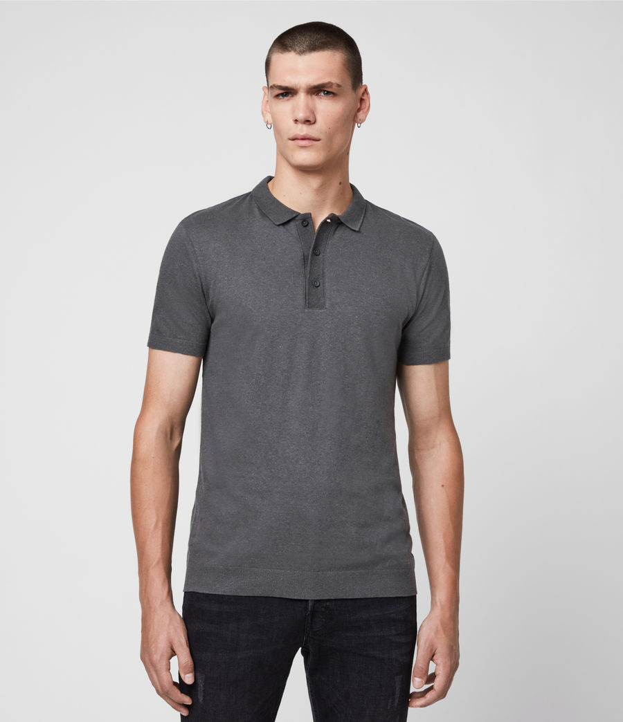 Uomo Polo Tyra - Slim in misto cotone e lino (khaki_brown) - Image 1