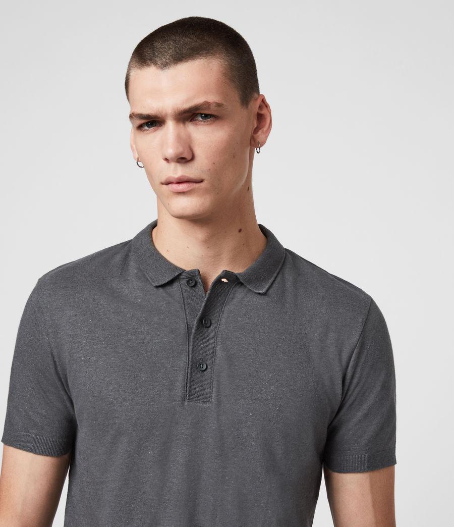Uomo Polo Tyra - Slim in misto cotone e lino (khaki_brown) - Image 2