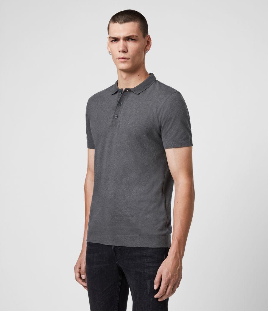 Uomo Polo Tyra - Slim in misto cotone e lino (putty_grey) - Image 4
