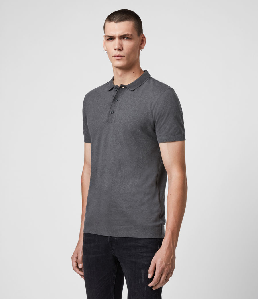 Uomo Polo Tyra - Slim in misto cotone e lino (khaki_brown) - Image 4