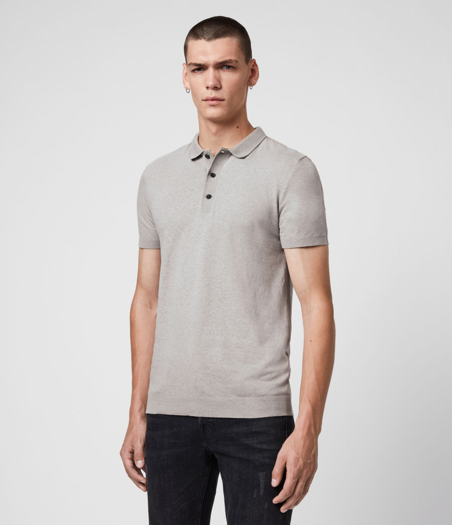 Uomo Polo Tyra - Slim in misto cotone e lino (putty_grey) - Image 4