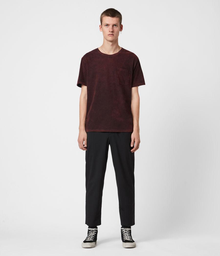 Herren Park Crew T-Shirt (oxblood_red) - Image 4