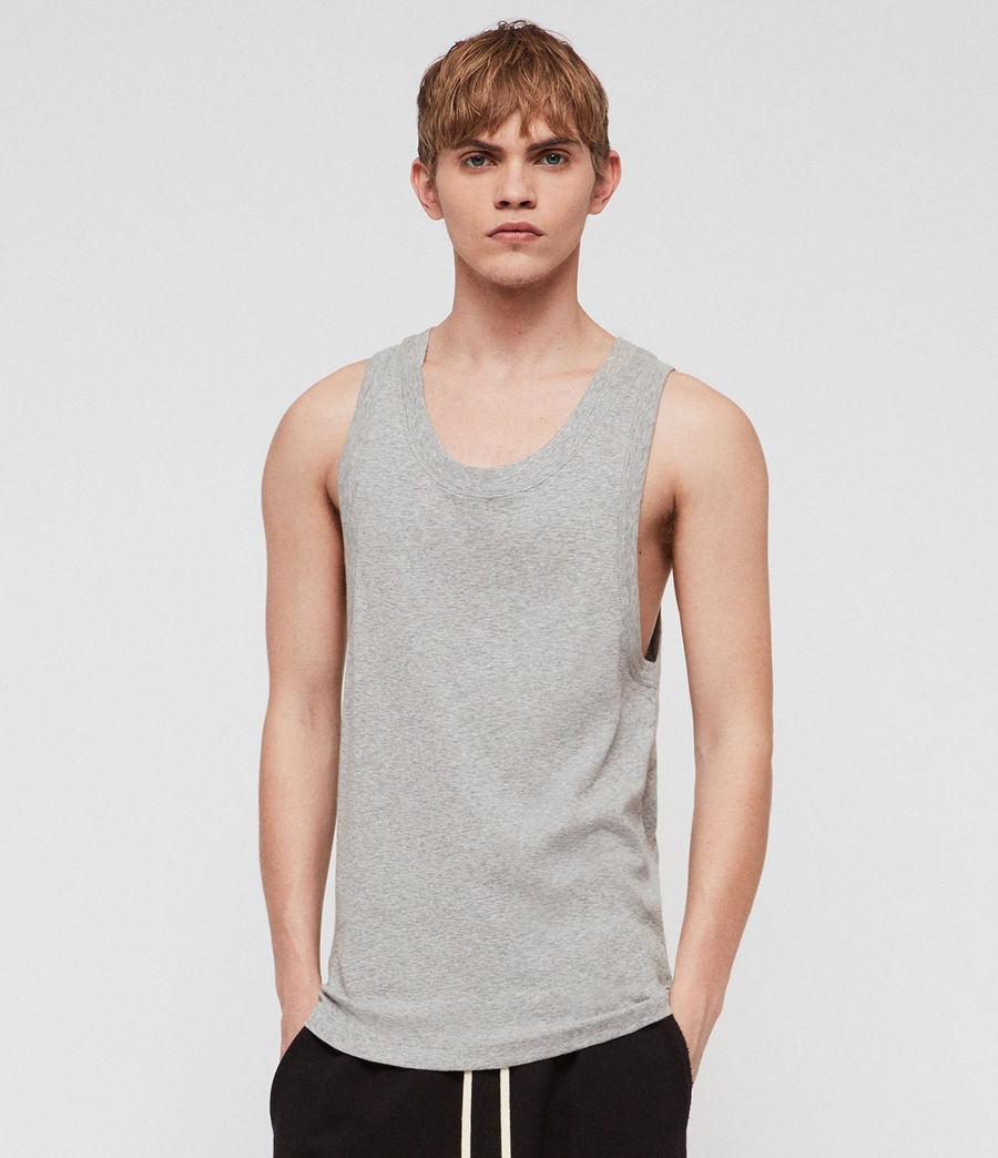 Mens Nixie Tank (grey_marl) - Image 1