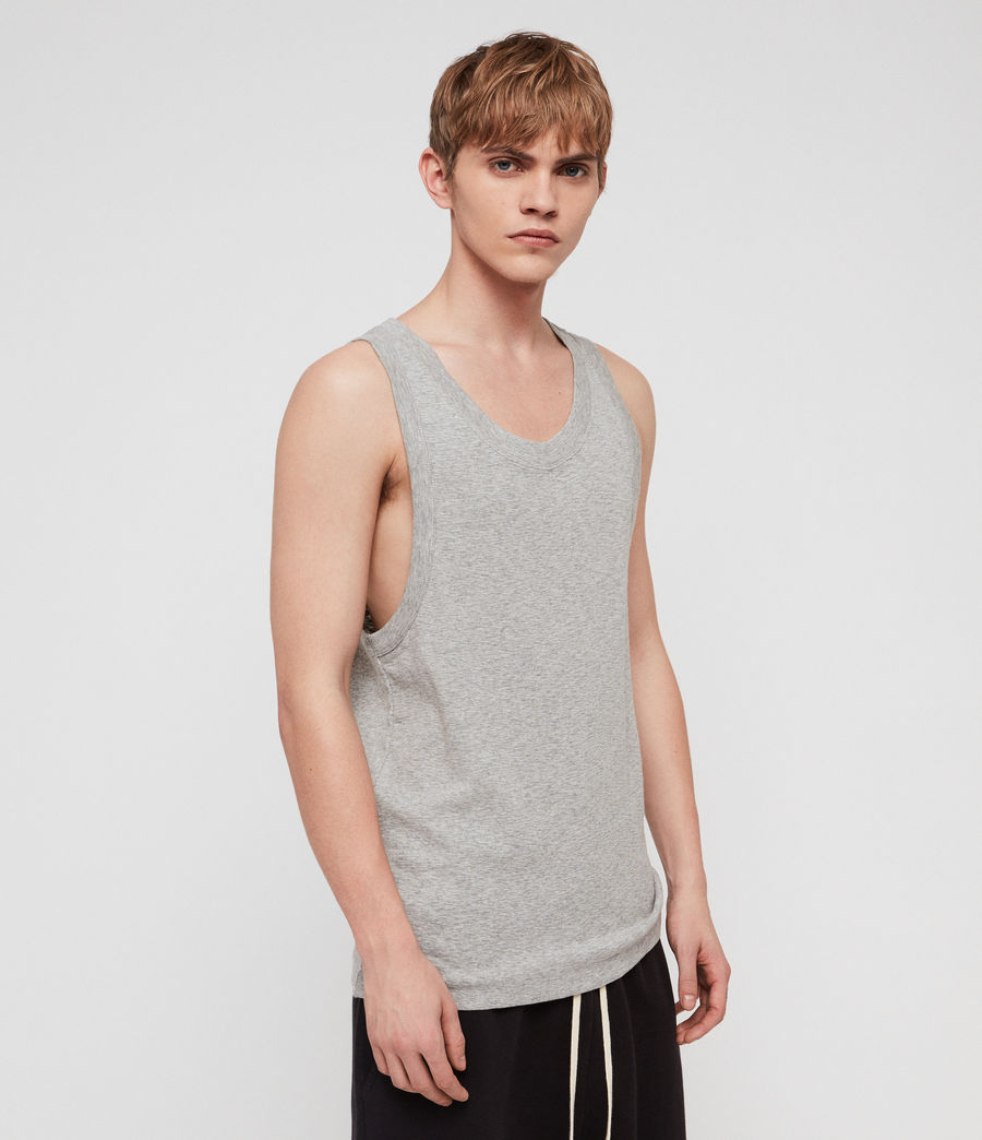 Mens Nixie Tank (grey_marl) - Image 4