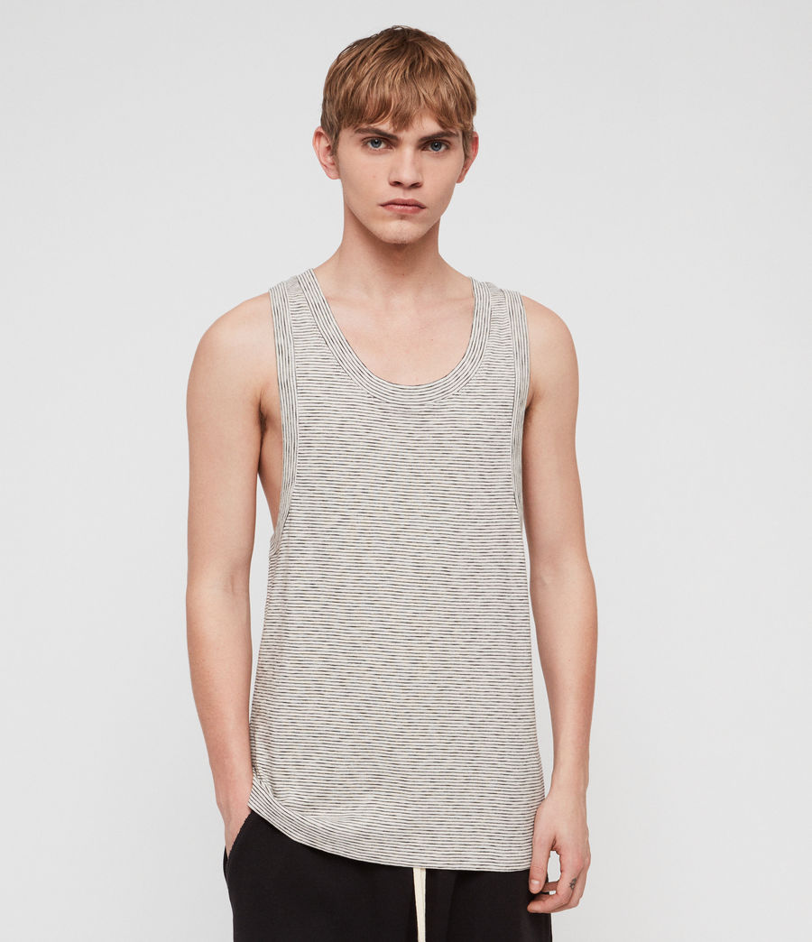 Mens Nixie Vest (ecru__black) - Image 1