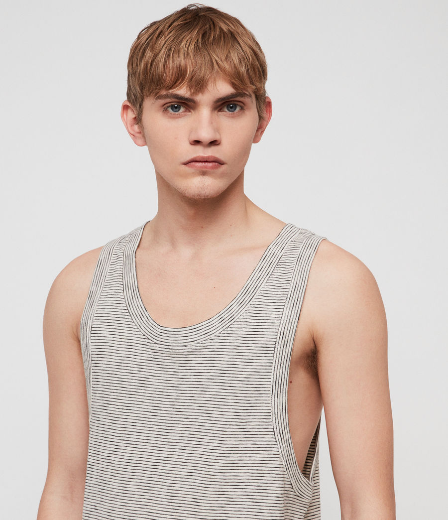 Mens Nixie Vest (ecru__black) - Image 3