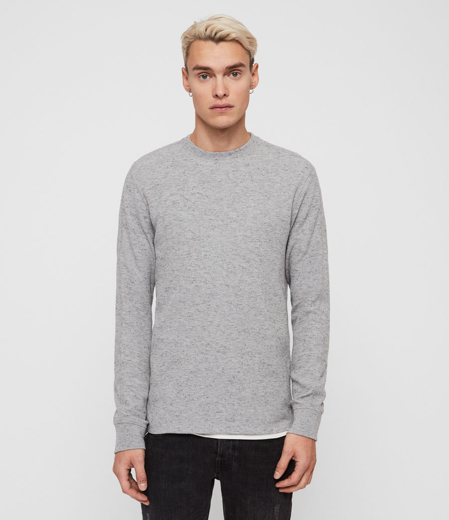Mens Maris Crew T-Shirt (grey_marl) - Image 1
