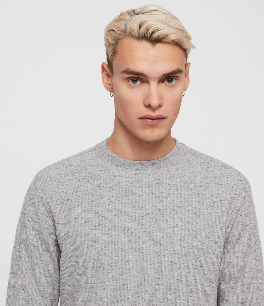 Mens Maris Crew T-Shirt (grey_marl) - Image 2