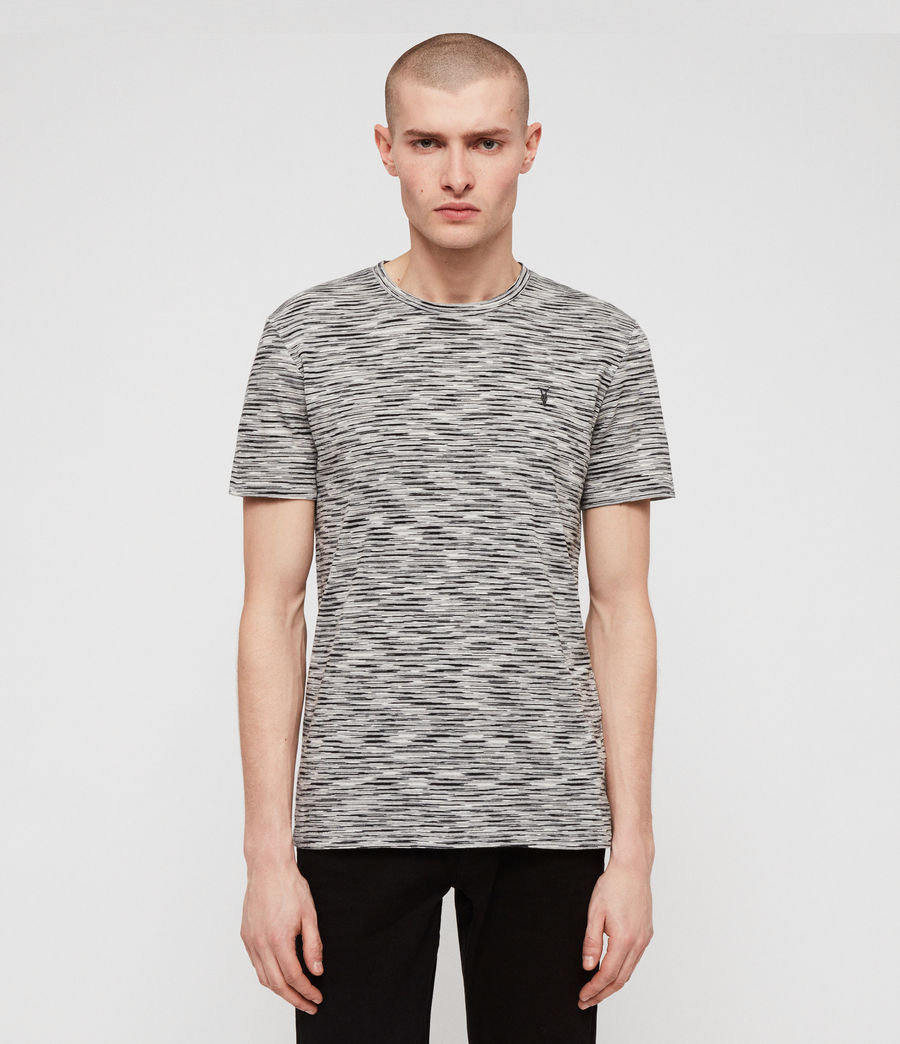 Mens Ronan Crew T-Shirt (washed_black_grey) - Image 1