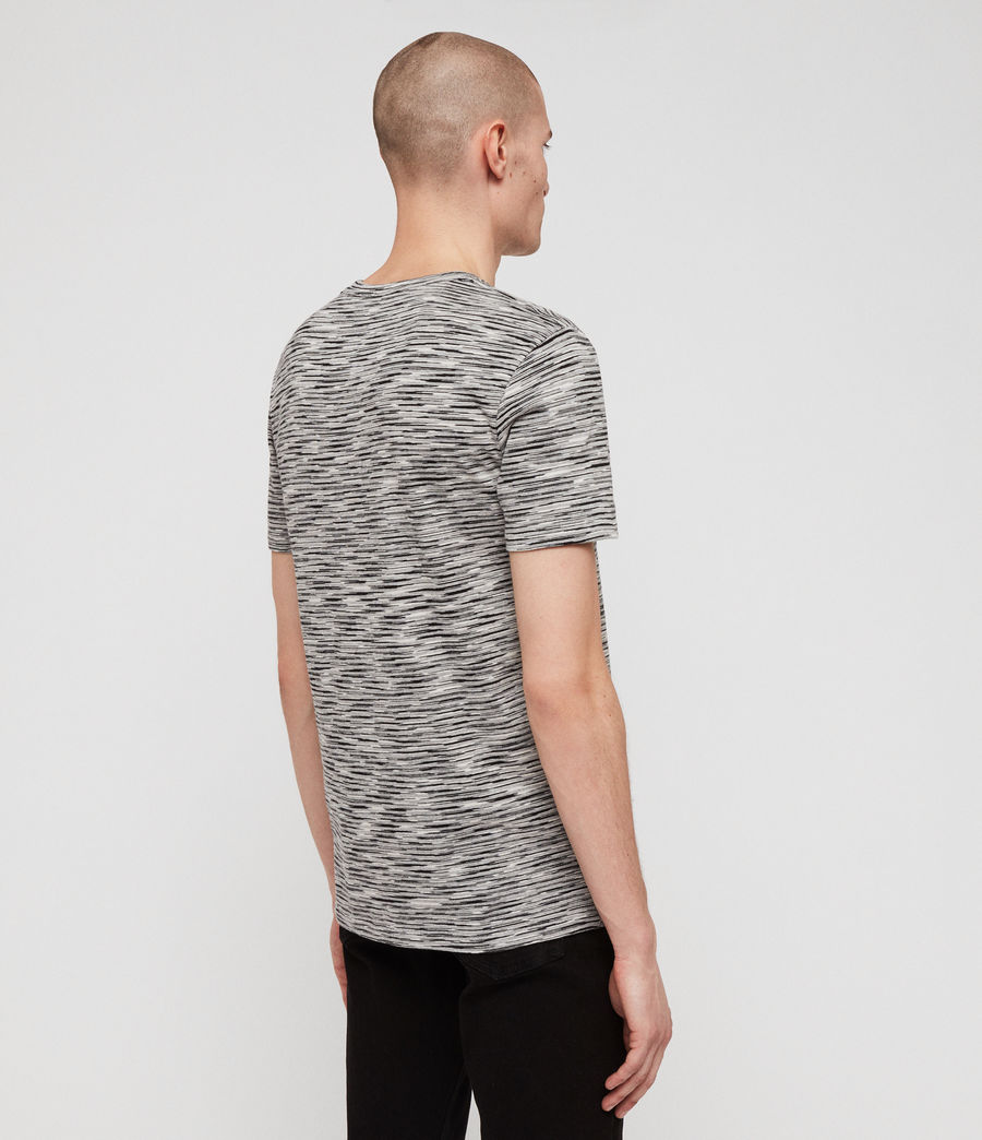 Mens Ronan Crew T-Shirt (washed_black_grey) - Image 4