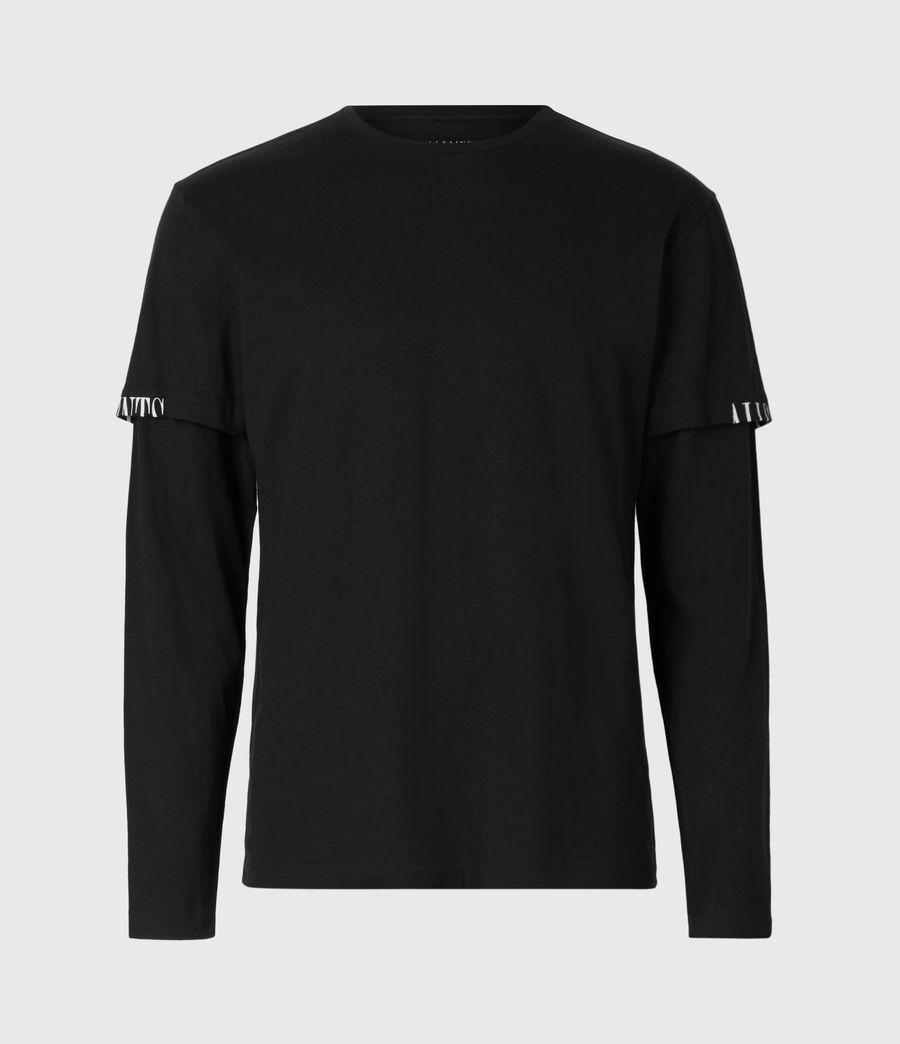 Mens Haven Layered Crew T-Shirt (jet_black) - Image 2