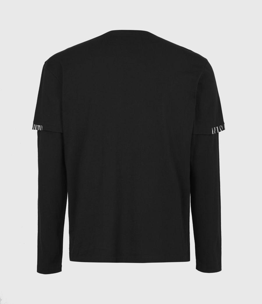 Mens Haven Layered Crew T-Shirt (jet_black) - Image 3