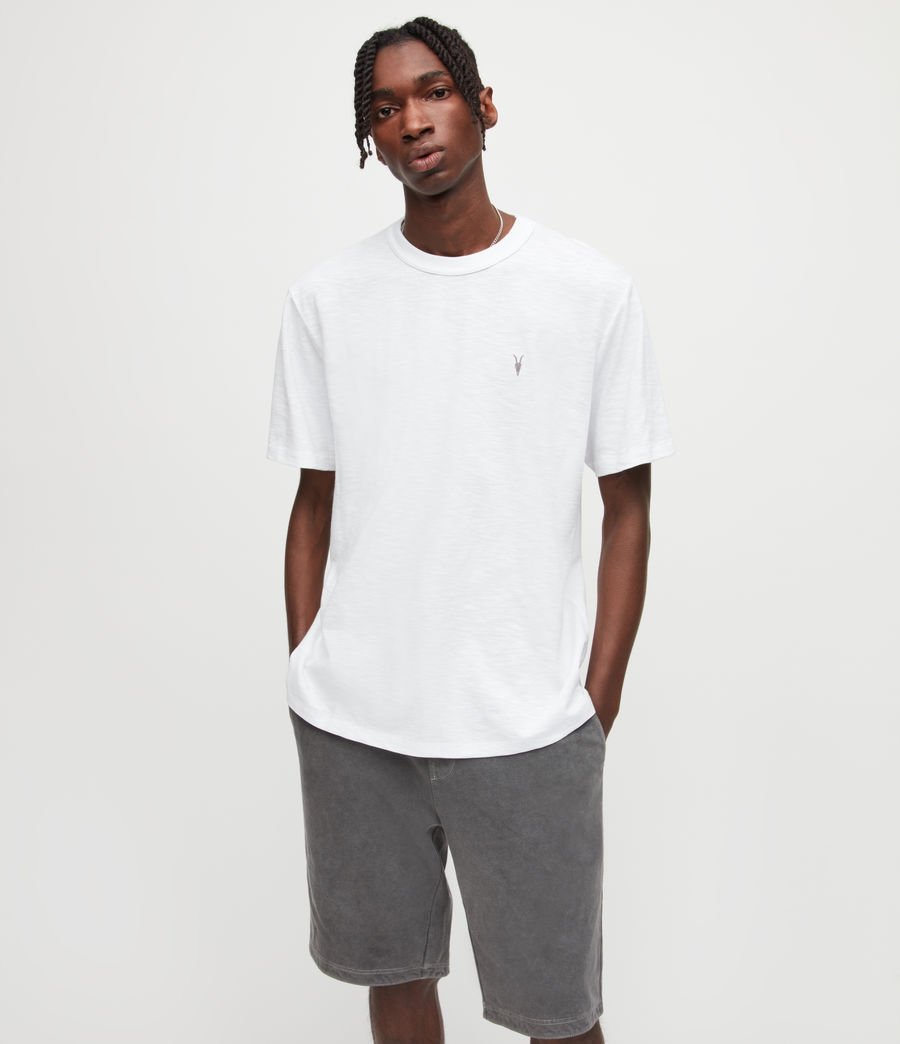 Mens Dexter Crew T-Shirt (optic_white) - Image 1