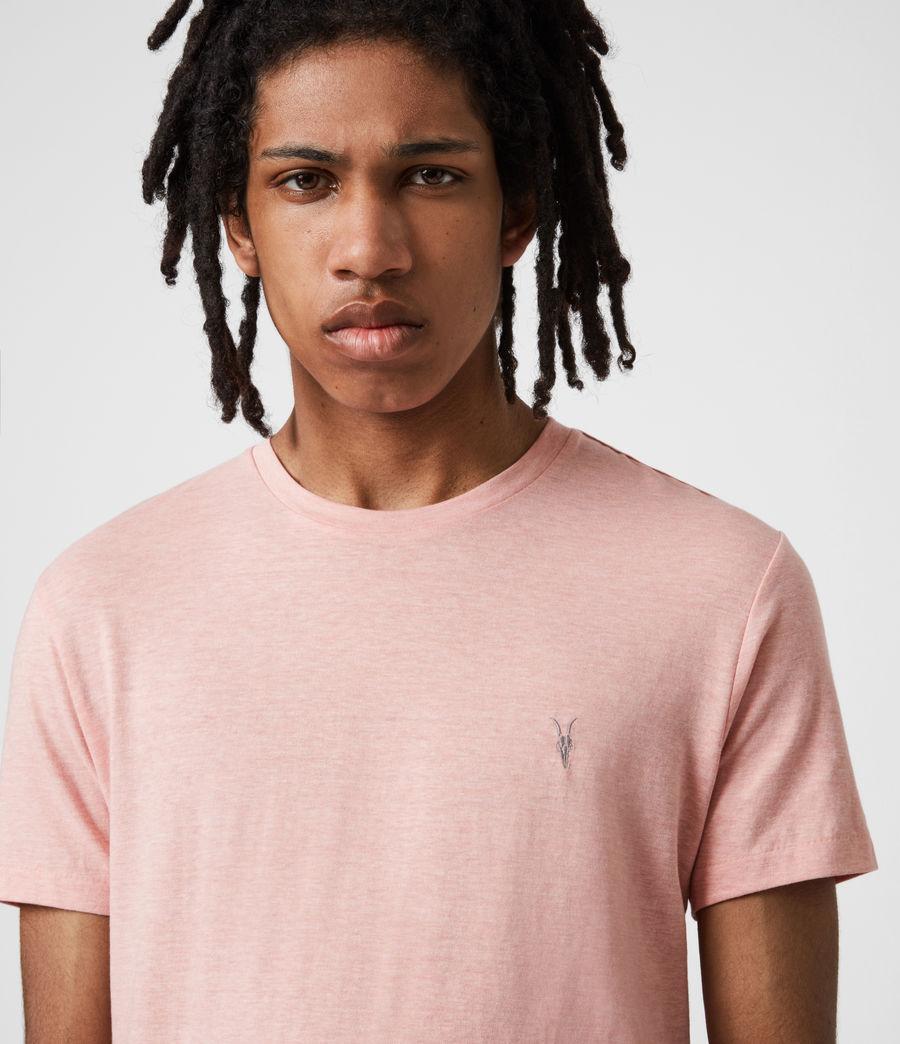 Herren Tonic Crew T-Shirt (panama_pink_marl) - Image 4