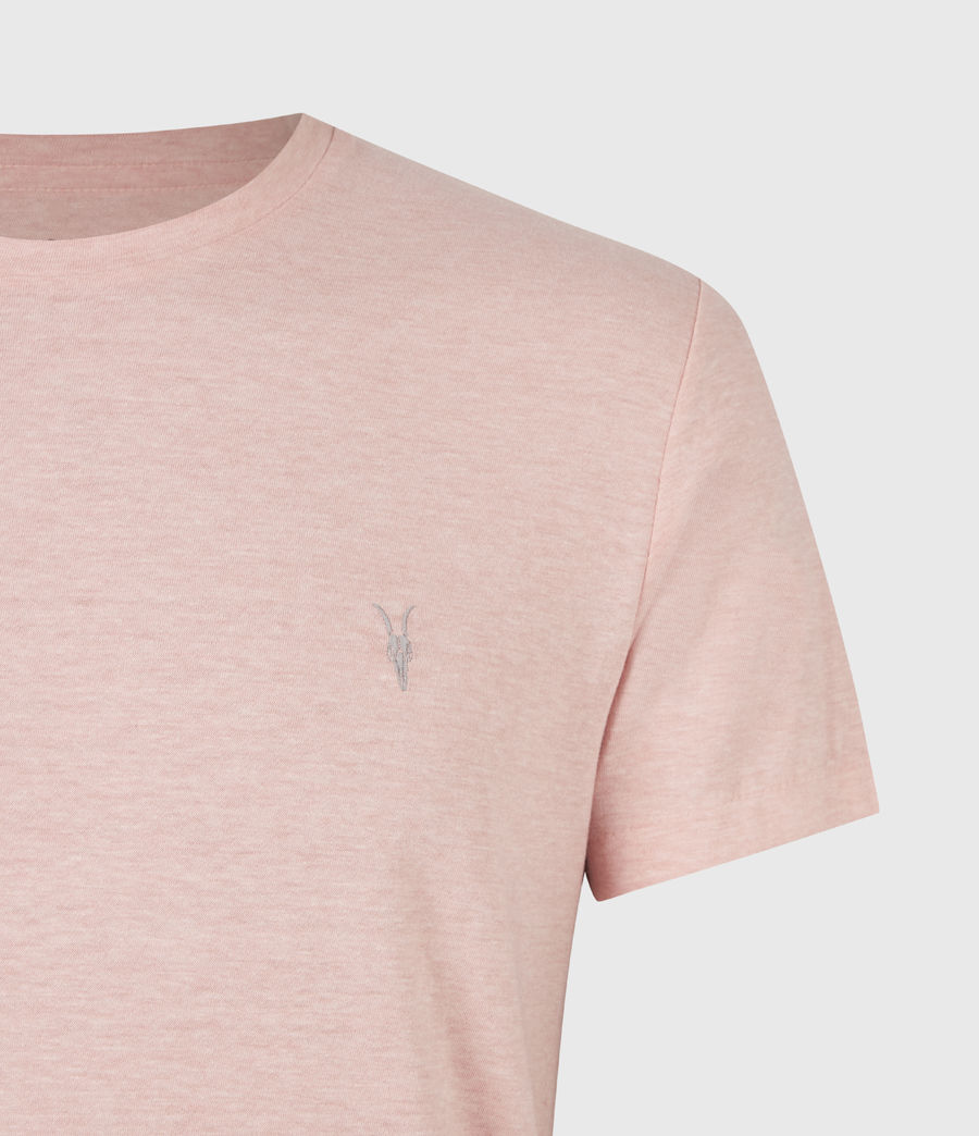 Herren Tonic Crew T-Shirt (panama_pink_marl) - Image 5