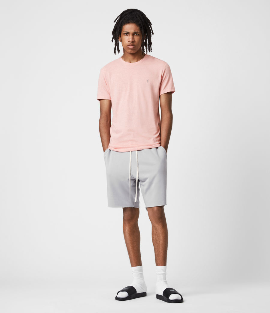 Herren Tonic Crew T-Shirt (panama_pink_marl) - Image 6
