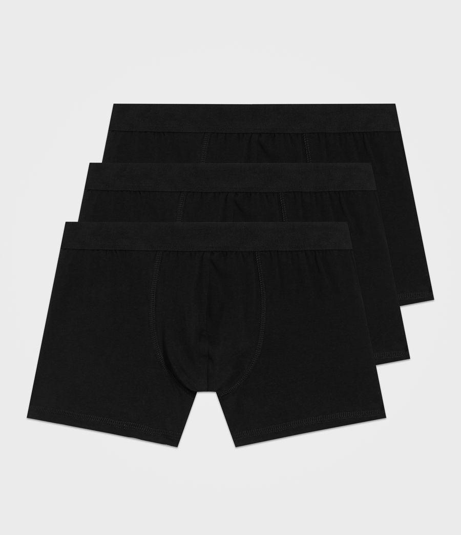 Mens 3 Pack Morrall Boxers (black) - Image 1