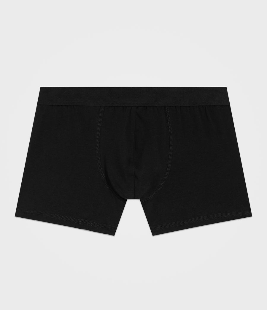Mens 3 Pack Morrall Boxers (black) - Image 2