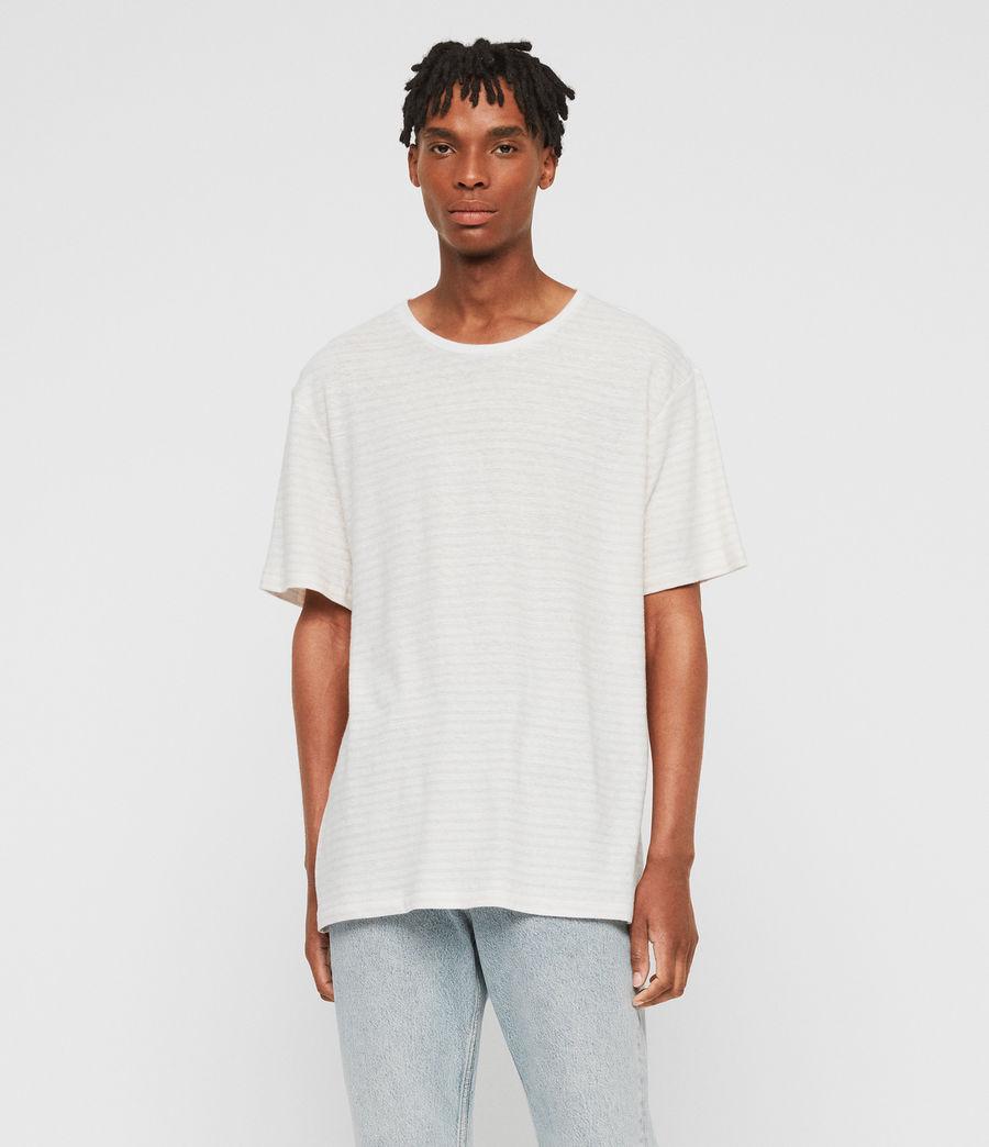 Men's Adrian Crew T-Shirt (chalk_white_pink) - Image 1