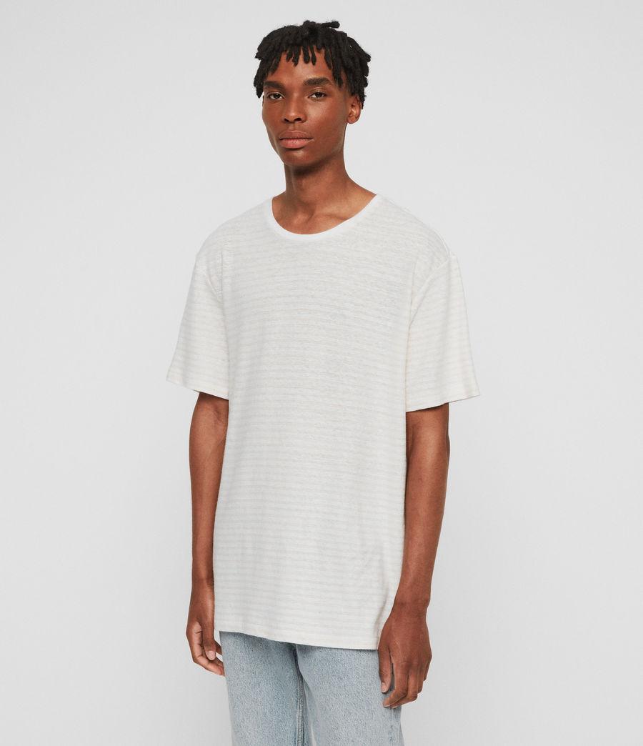 Men's Adrian Crew T-Shirt (chalk_white_pink) - Image 3