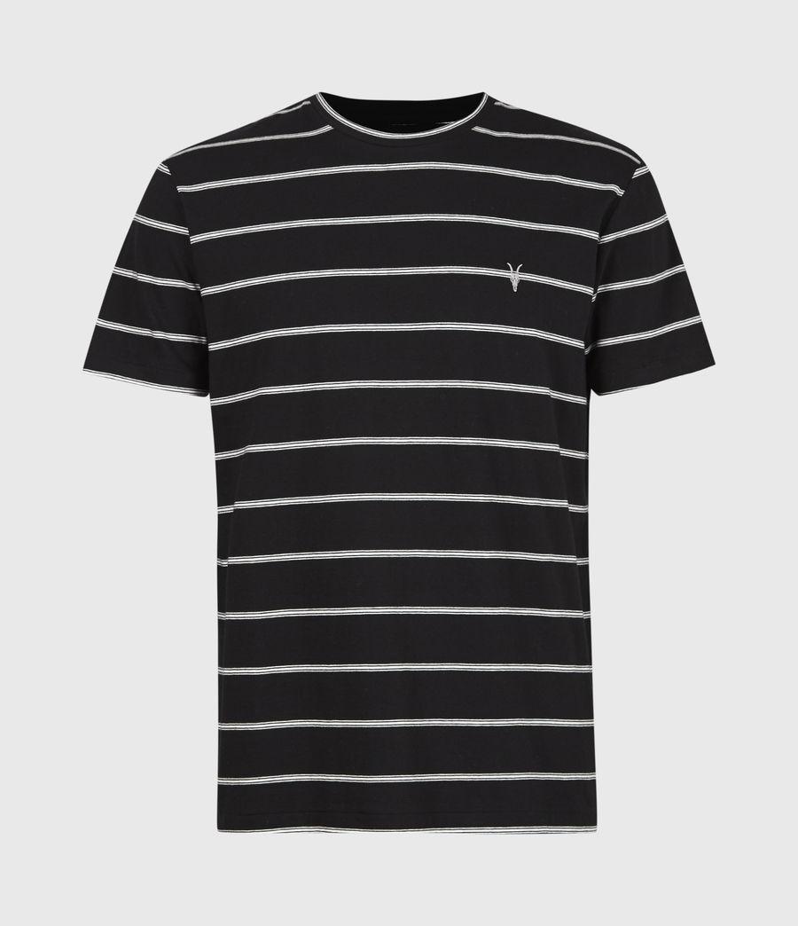 Herren Louis Gestreiftes T-Shirt (black) - Image 2
