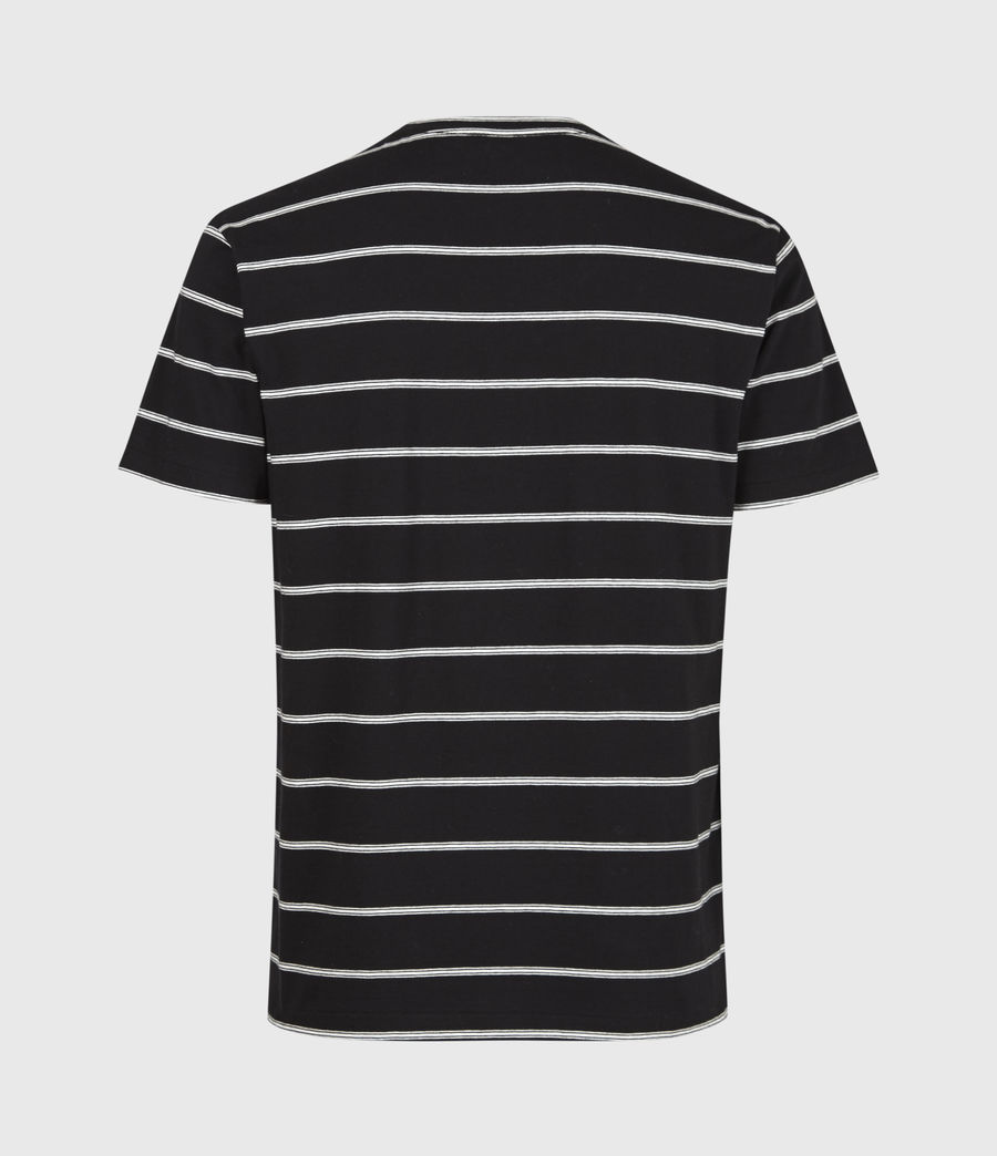 Men's Louis Stripe Crew T-Shirt (black) - Image 3