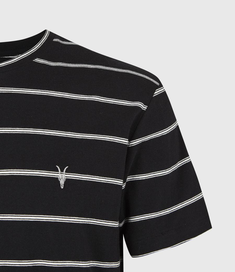Herren Louis Gestreiftes T-Shirt (black) - Image 5